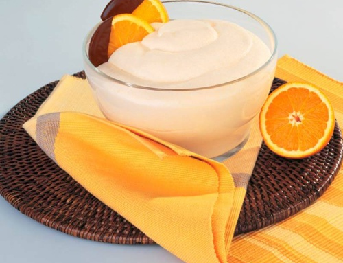 Mousse with Orange flavour
